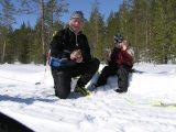 Jag och Ebba på skidtur 2004