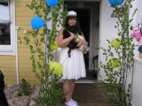 Ebba med hunden Polly