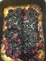 Wild blueberries/rhubarb pie